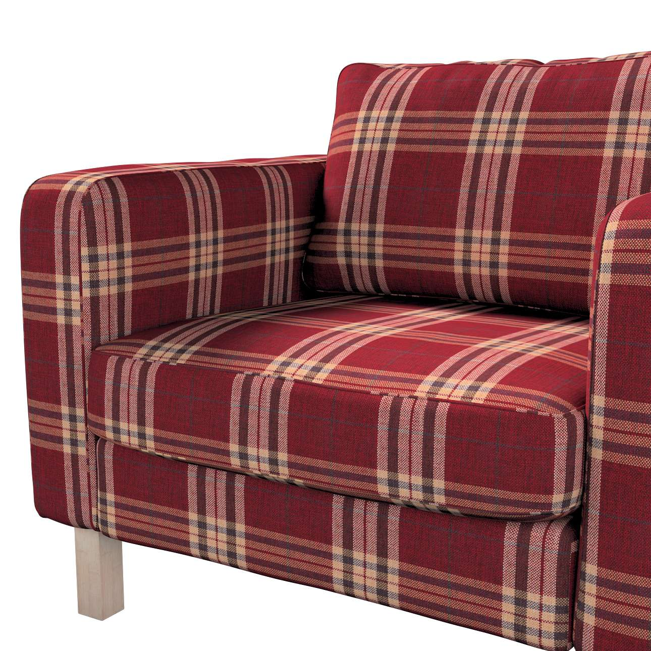Karlstad armchair cover in collection Edinburgh, fabric: 115-73