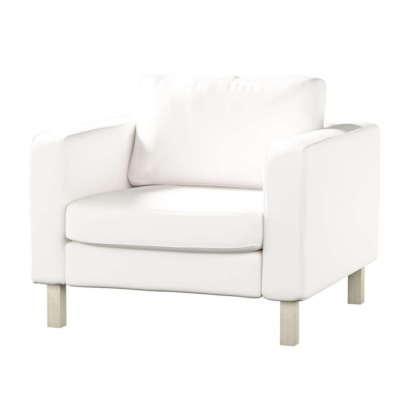 Pokrowiec na fotel Karlstad, krótki Fotel Karlstad w kolekcji Cotton Panama, tkanina: 702-34