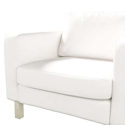 Pokrowiec na fotel Karlstad, krótki w kolekcji Cotton Panama, tkanina: 702-34