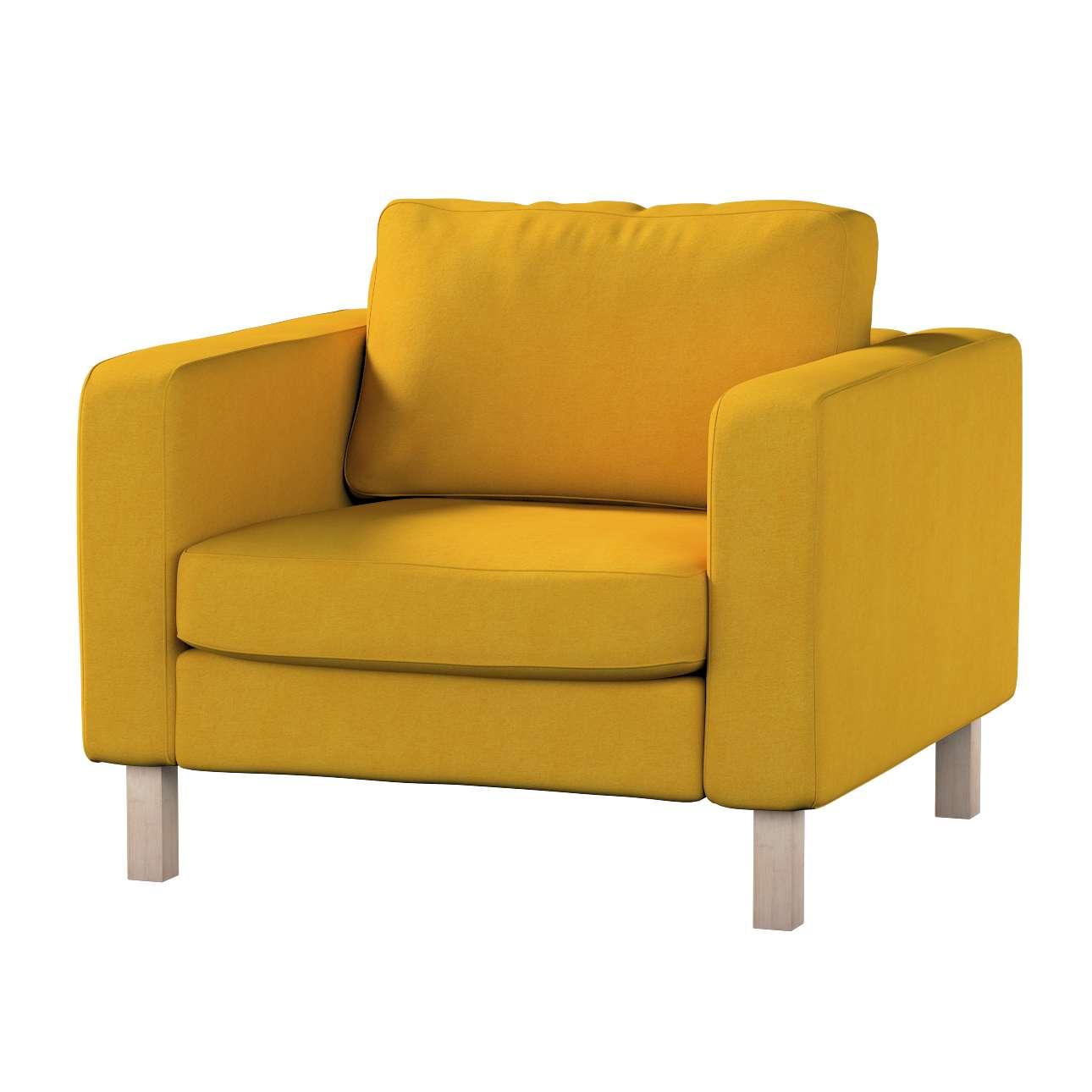 Pokrowiec na fotel Karlstad, krótki Fotel Karlstad w kolekcji Etna , tkanina: 705-04