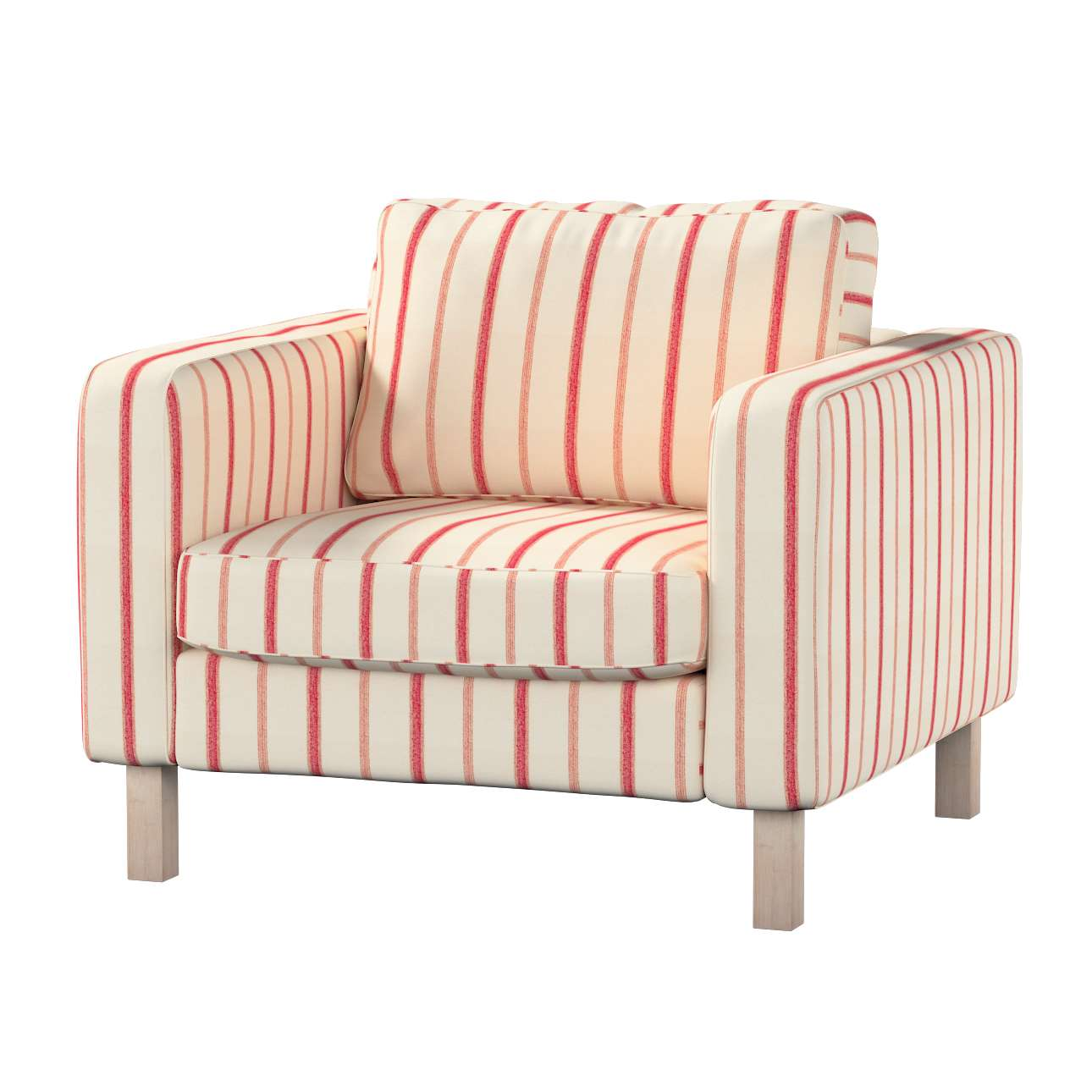 Karlstad armchair cover in collection Avinon, fabric: 129-15
