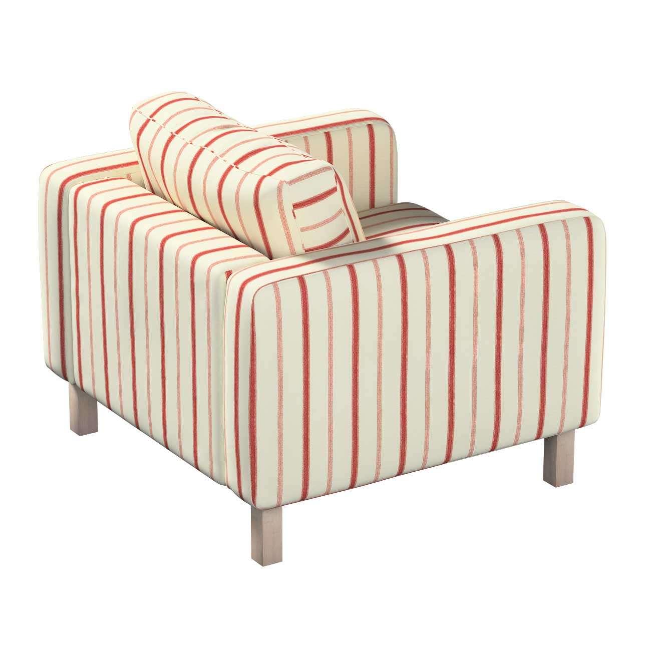 Pokrowiec na fotel Karlstad, krótki w kolekcji Avinon, tkanina: 129-15