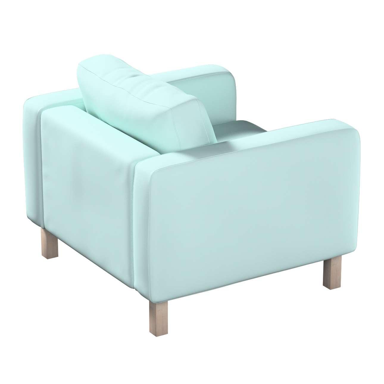 Pokrowiec na fotel Karlstad, krótki w kolekcji Cotton Panama, tkanina: 702-10