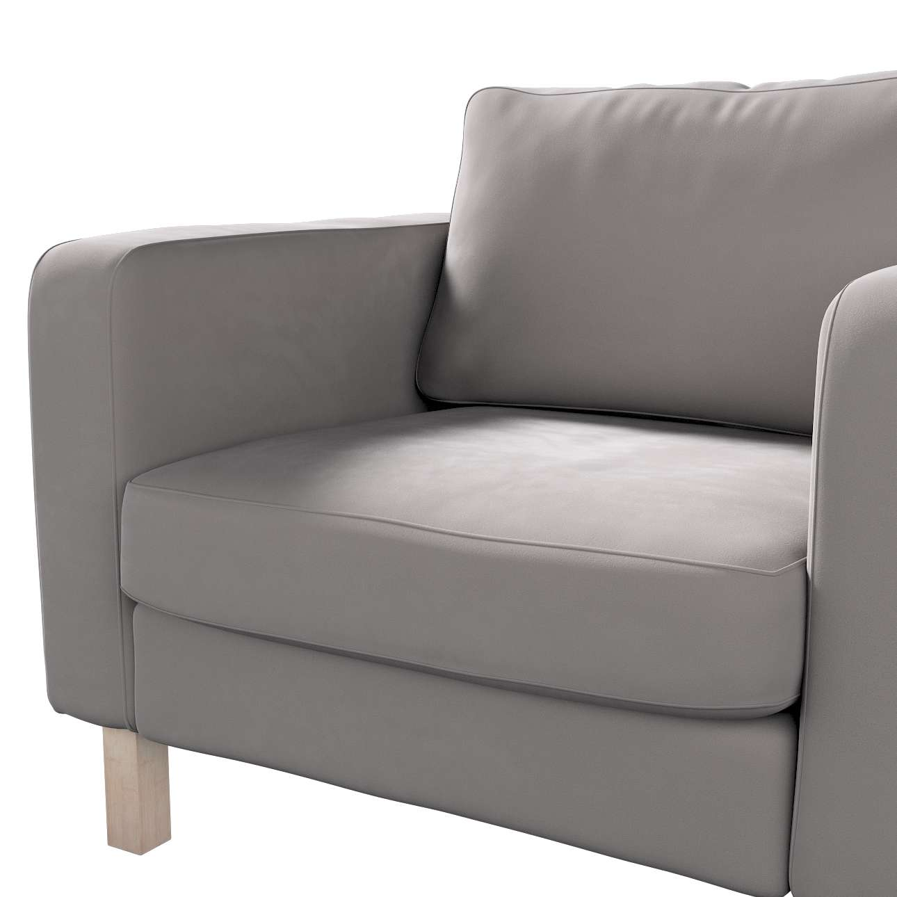 Pokrowiec na fotel Karlstad, krótki w kolekcji Velvet, tkanina: 704-11