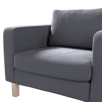 Pokrowiec na fotel Karlstad, krótki w kolekcji Velvet, tkanina: 704-12