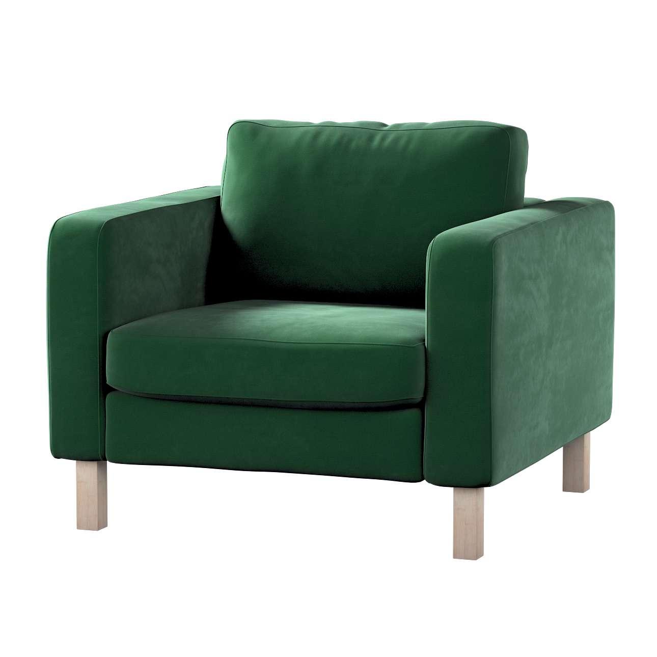 Karlstad päällinen nojatuoli mallistosta Velvet, Kangas: 704-13