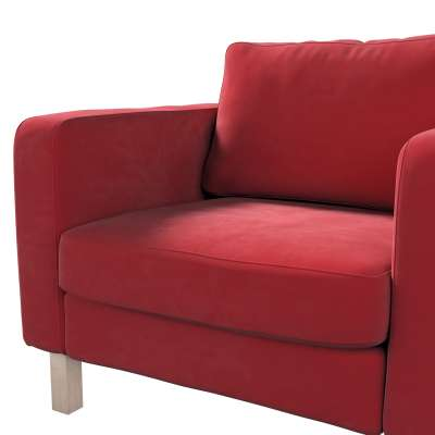 Pokrowiec na fotel Karlstad, krótki w kolekcji Velvet, tkanina: 704-15