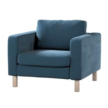 Karlstad armchair cover in collection Velvet, fabric: 704-16