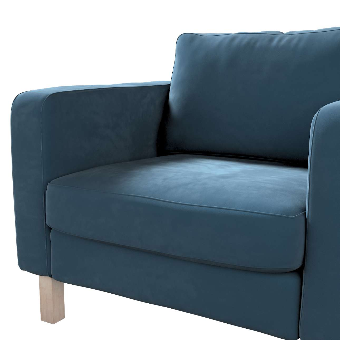 Pokrowiec na fotel Karlstad, krótki w kolekcji Velvet, tkanina: 704-16