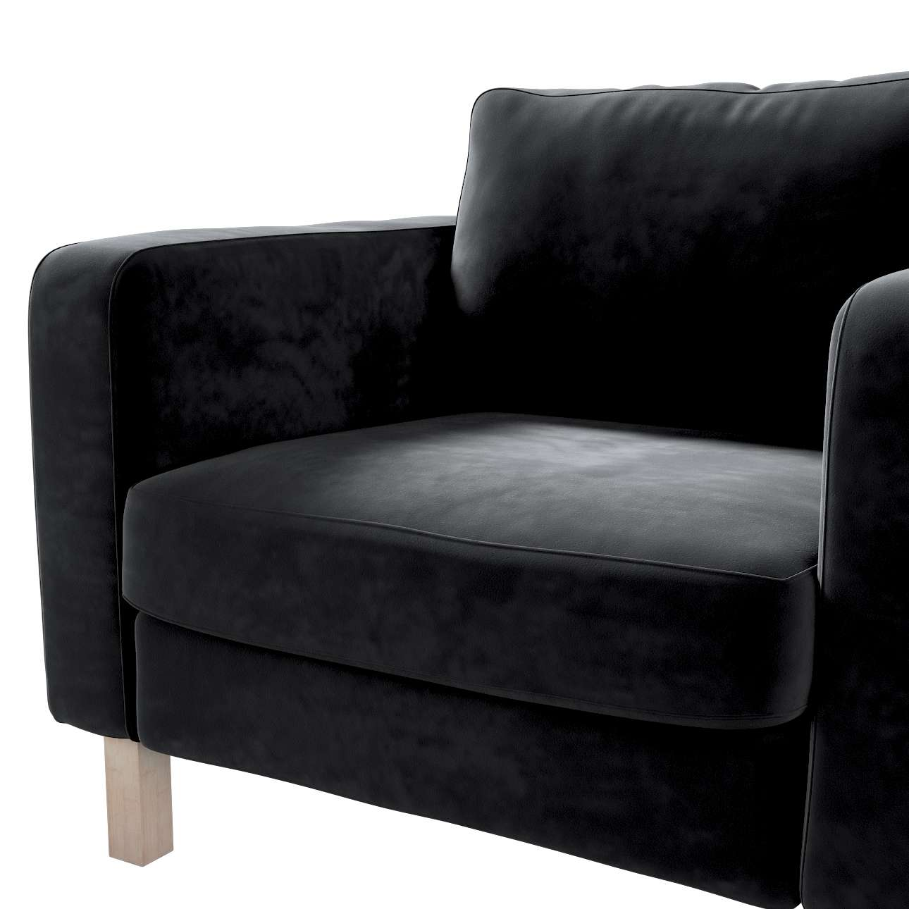 Karlstad armchair cover in collection Velvet, fabric: 704-17
