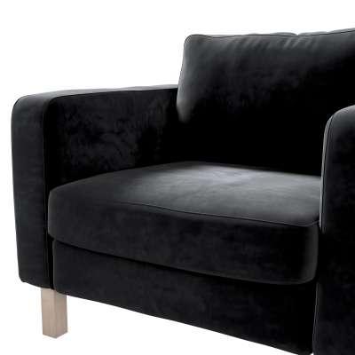 Pokrowiec na fotel Karlstad, krótki w kolekcji Velvet, tkanina: 704-17