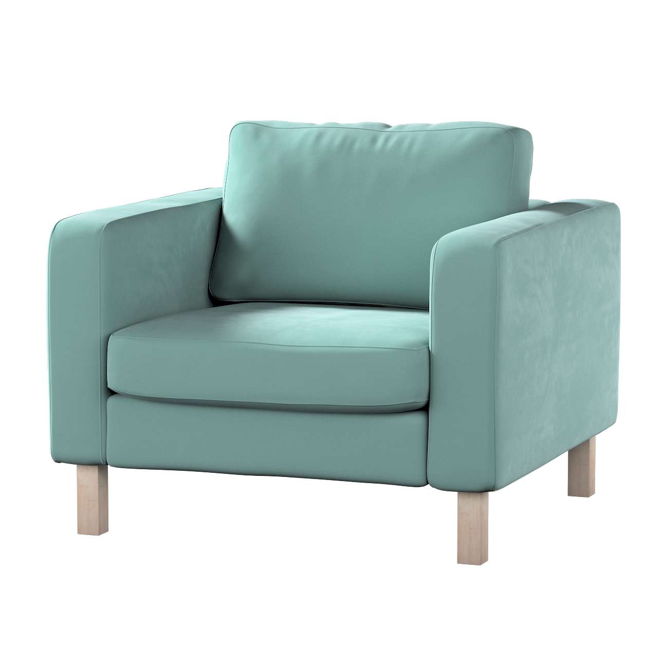 Karlstad armchair cover in collection Velvet, fabric: 704-18