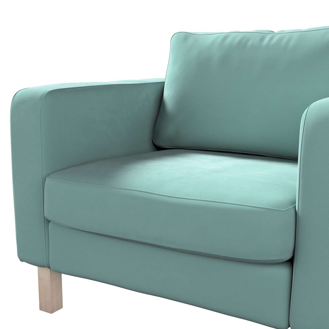 Pokrowiec na fotel Karlstad, krótki w kolekcji Velvet, tkanina: 704-18