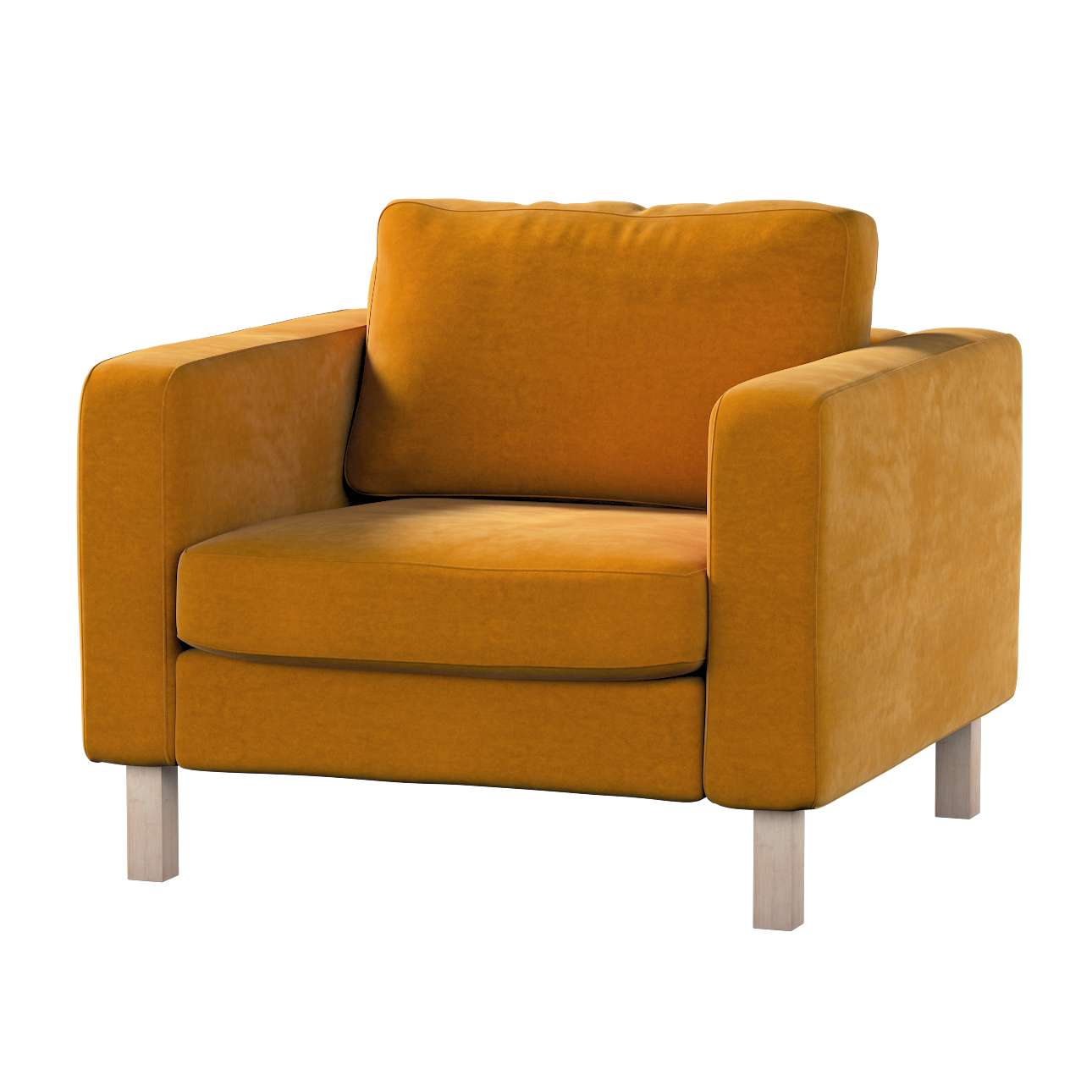 Karlstad armchair cover in collection Velvet, fabric: 704-23