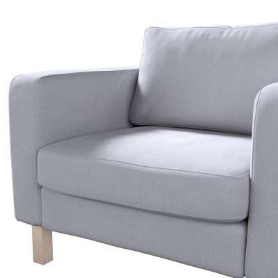 Pokrowiec na fotel Karlstad, krótki w kolekcji Velvet, tkanina: 704-24