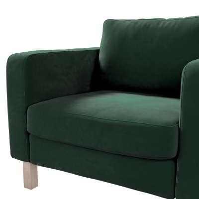 Pokrowiec na fotel Karlstad, krótki w kolekcji Velvet, tkanina: 704-25