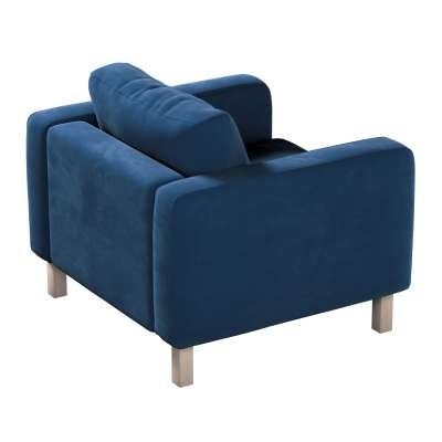 Pokrowiec na fotel Karlstad, krótki w kolekcji Velvet, tkanina: 704-29