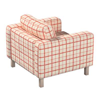 Pokrowiec na fotel Karlstad, krótki w kolekcji Avinon, tkanina: 131-15