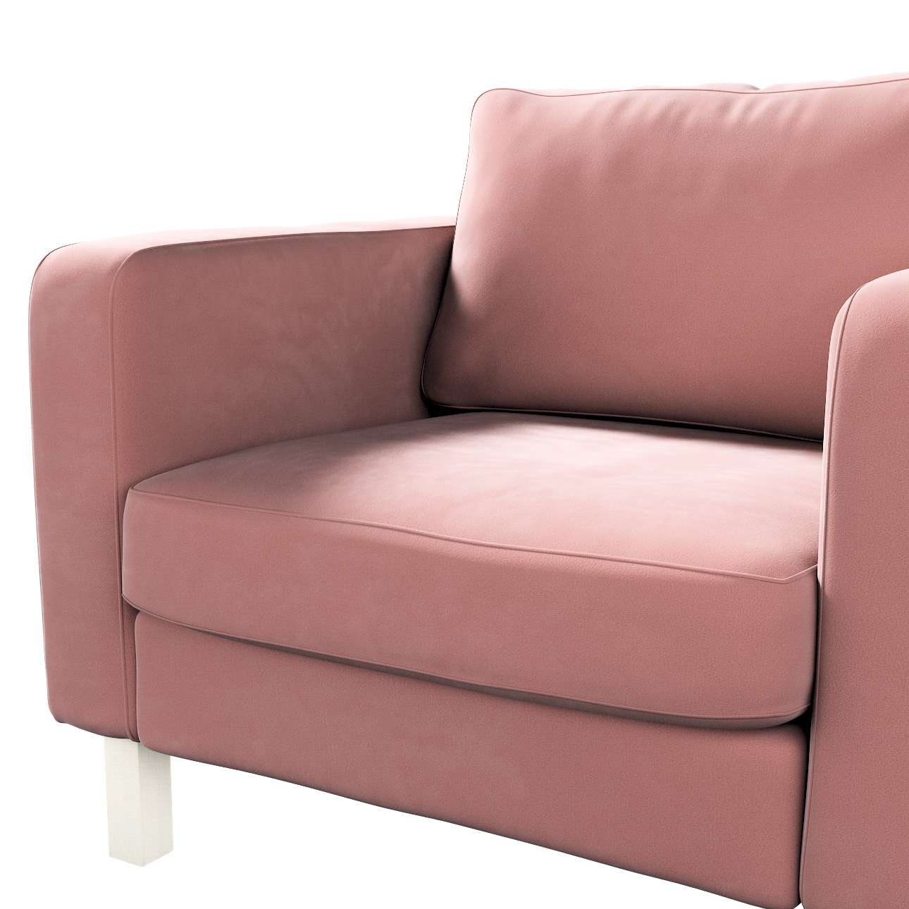 Pokrowiec na fotel Karlstad, krótki w kolekcji Velvet, tkanina: 704-30