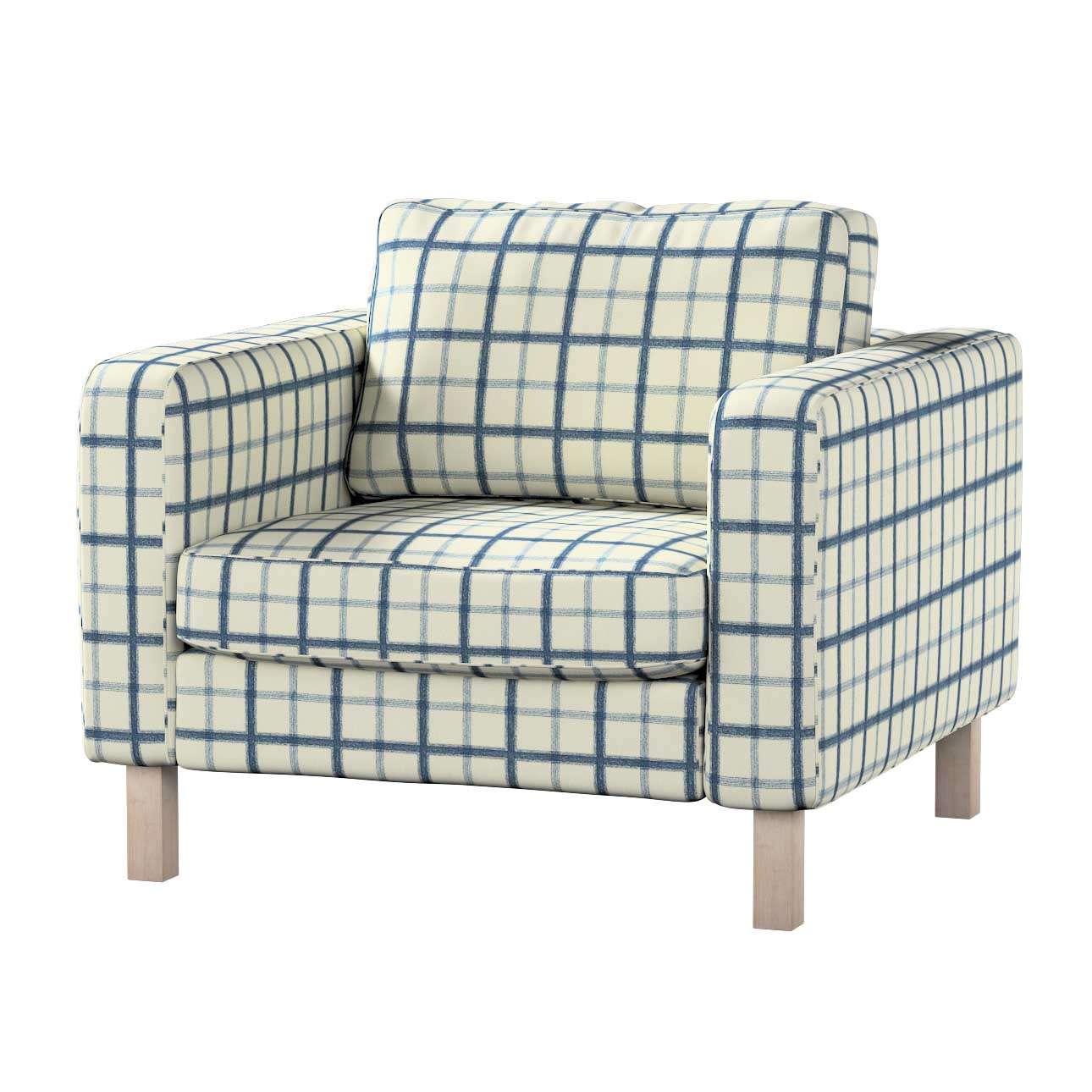 Pokrowiec na fotel Karlstad, krótki Fotel Karlstad w kolekcji Avinon, tkanina: 131-66