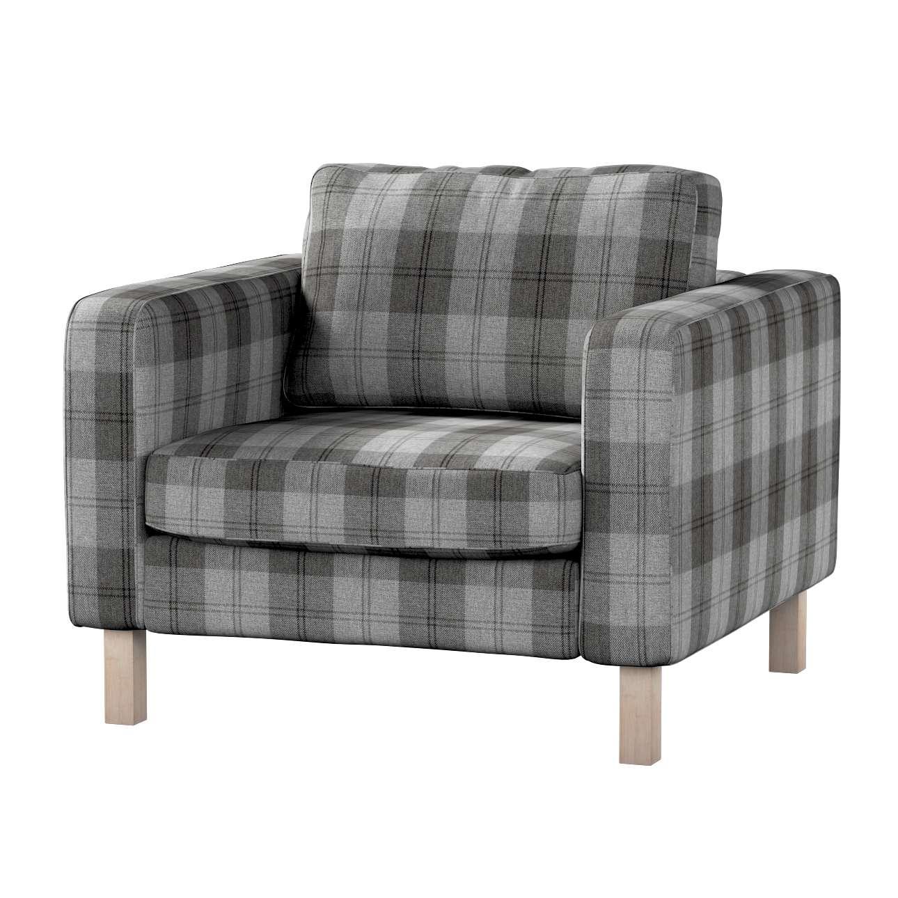 Pokrowiec na fotel Karlstad, krótki w kolekcji Edinburgh, tkanina: 115-75