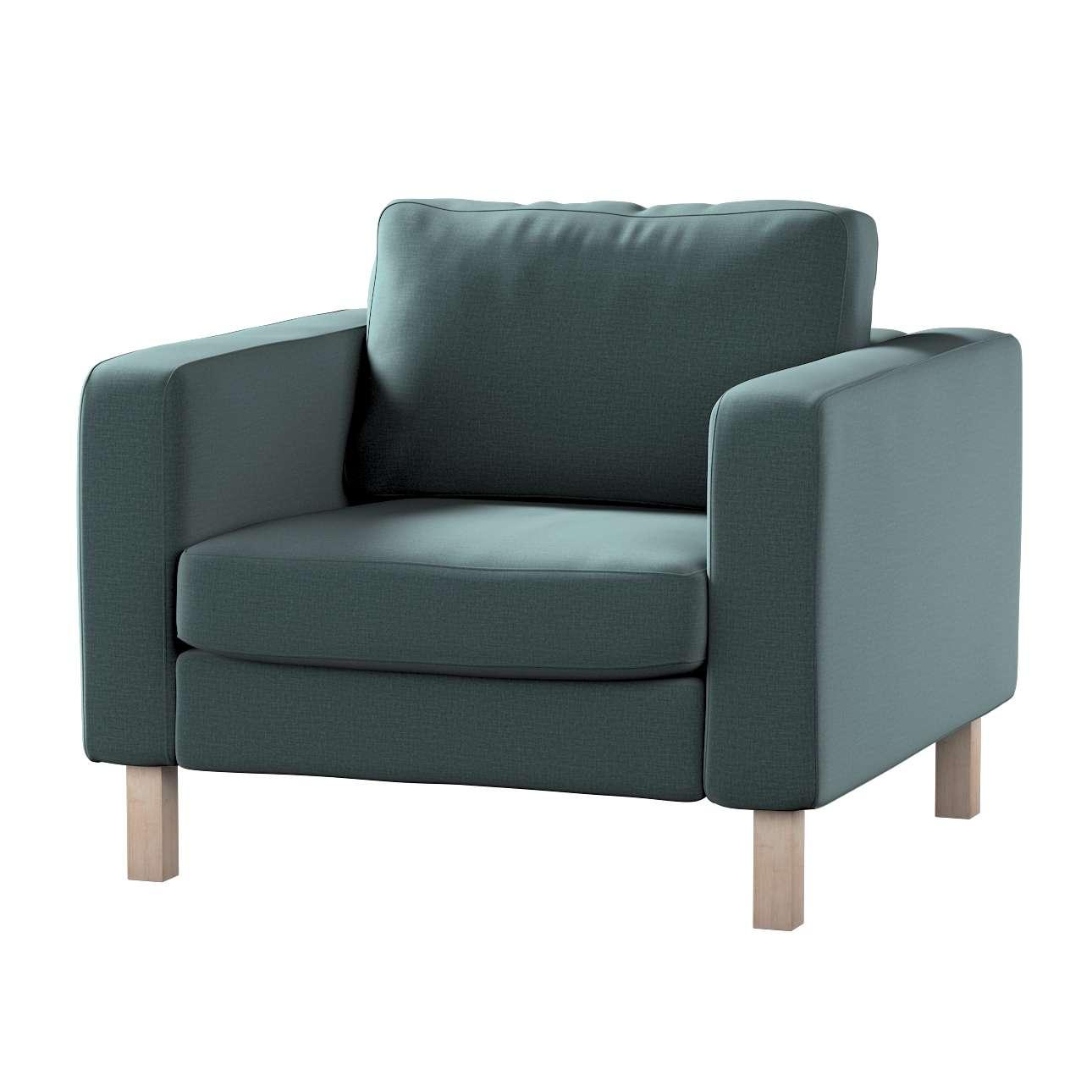 Pokrowiec na fotel Karlstad, krótki w kolekcji Ingrid, tkanina: 705-36