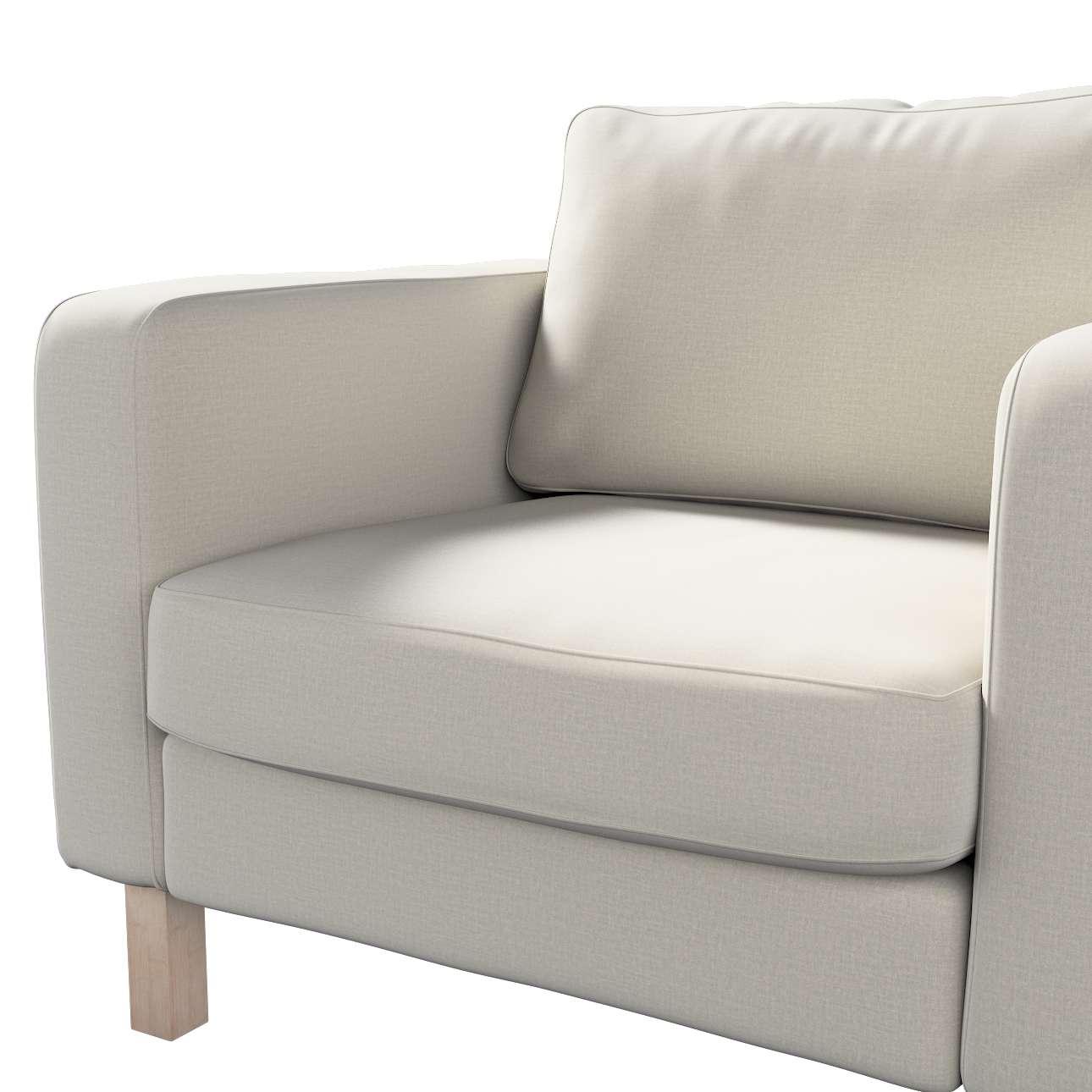 Pokrowiec na fotel Karlstad, krótki w kolekcji Ingrid, tkanina: 705-40