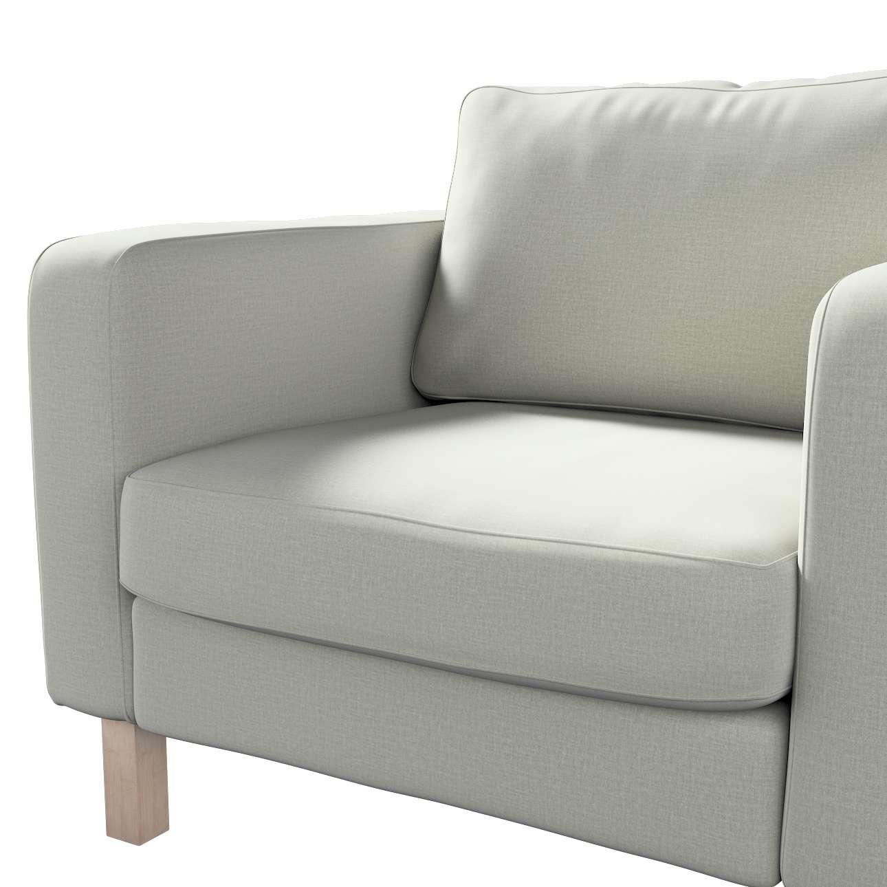 Pokrowiec na fotel Karlstad, krótki w kolekcji Ingrid, tkanina: 705-41