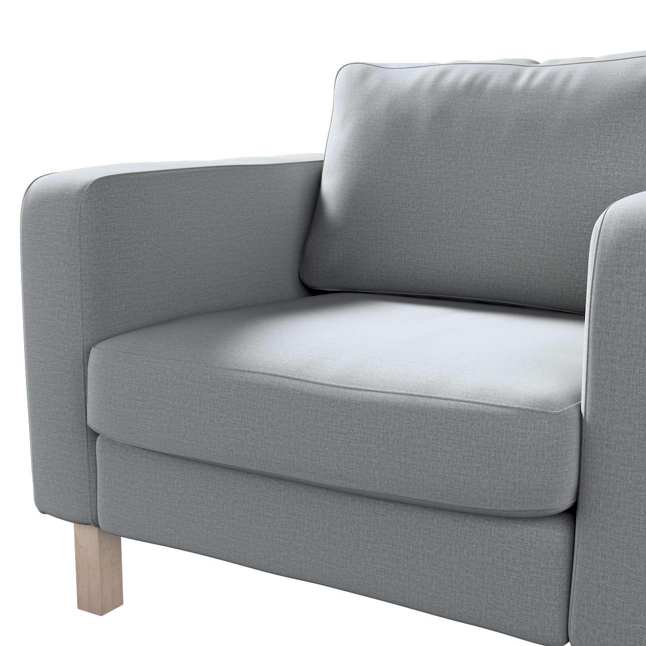 Pokrowiec na fotel Karlstad, krótki w kolekcji Ingrid, tkanina: 705-42