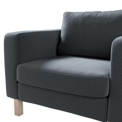 Pokrowiec na fotel Karlstad, krótki w kolekcji Ingrid, tkanina: 705-43