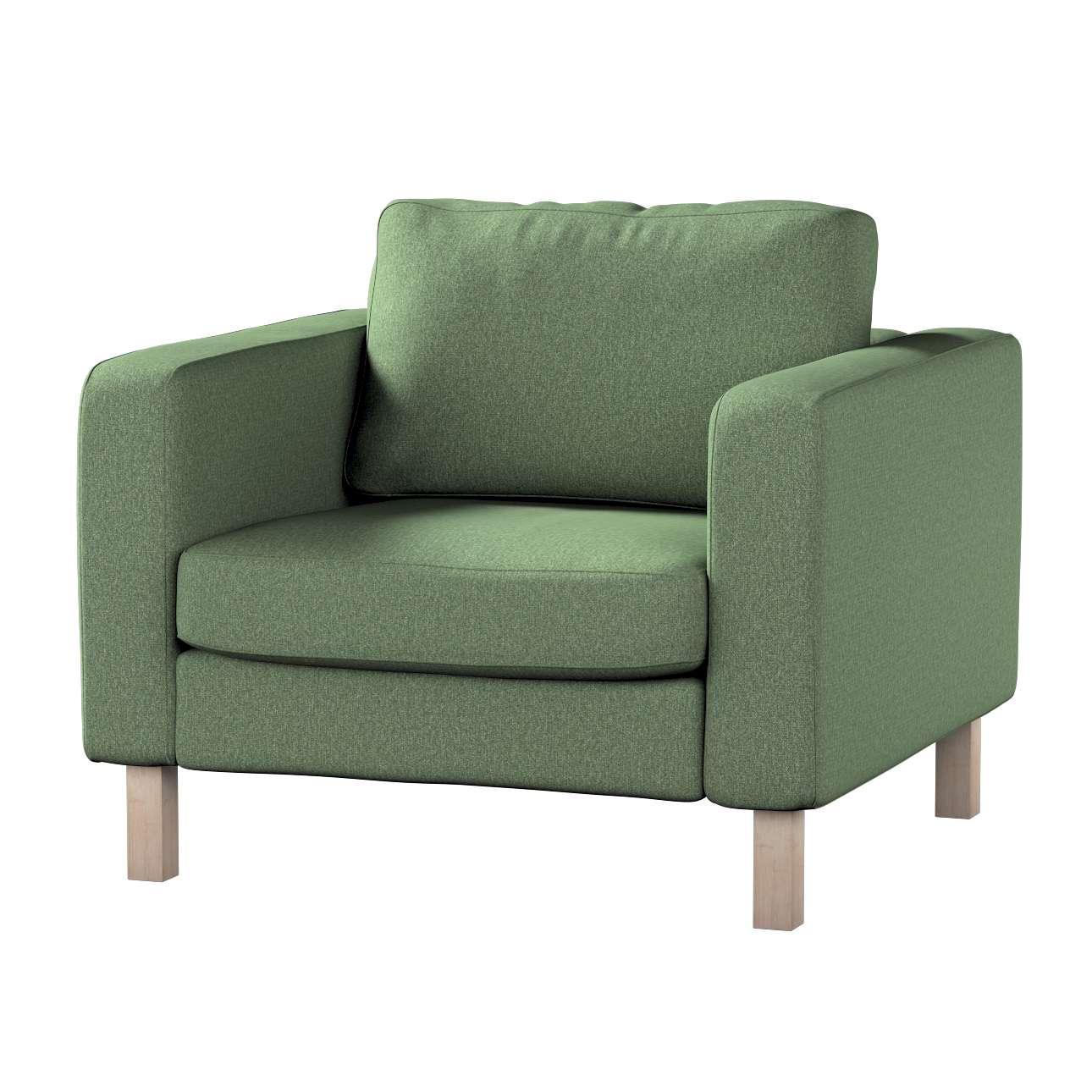Pokrowiec na fotel Karlstad, krótki w kolekcji Amsterdam, tkanina: 704-44