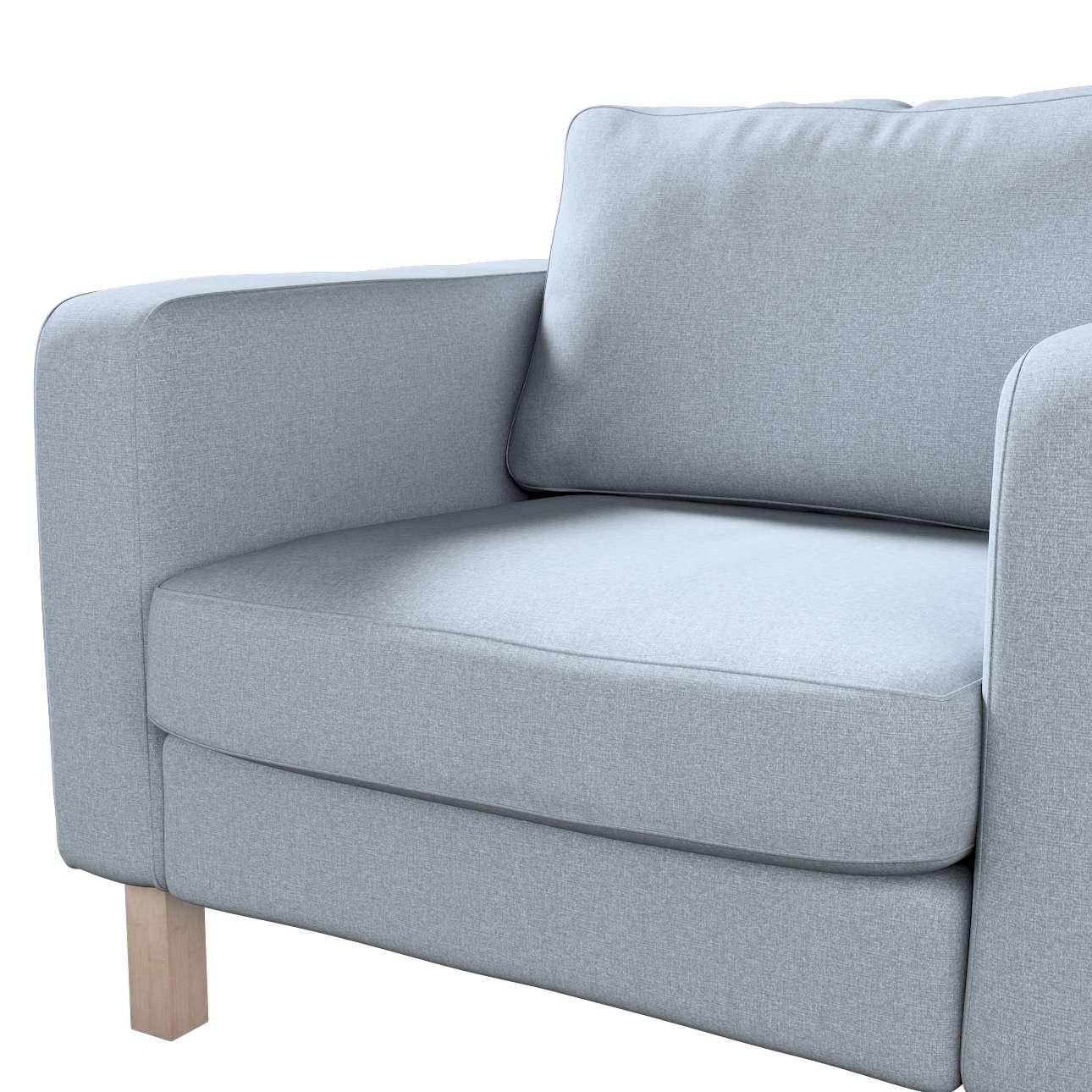Pokrowiec na fotel Karlstad, krótki w kolekcji Amsterdam, tkanina: 704-46