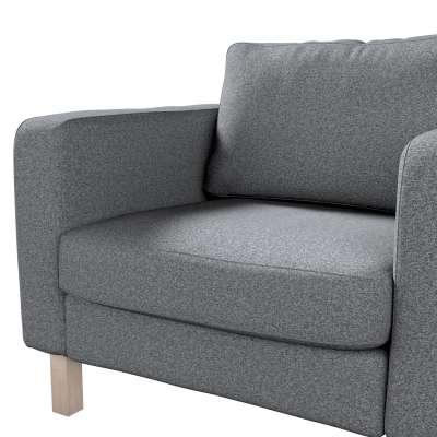 Pokrowiec na fotel Karlstad, krótki w kolekcji Amsterdam, tkanina: 704-47