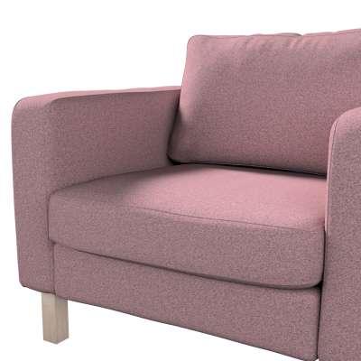 Pokrowiec na fotel Karlstad, krótki w kolekcji Amsterdam, tkanina: 704-48