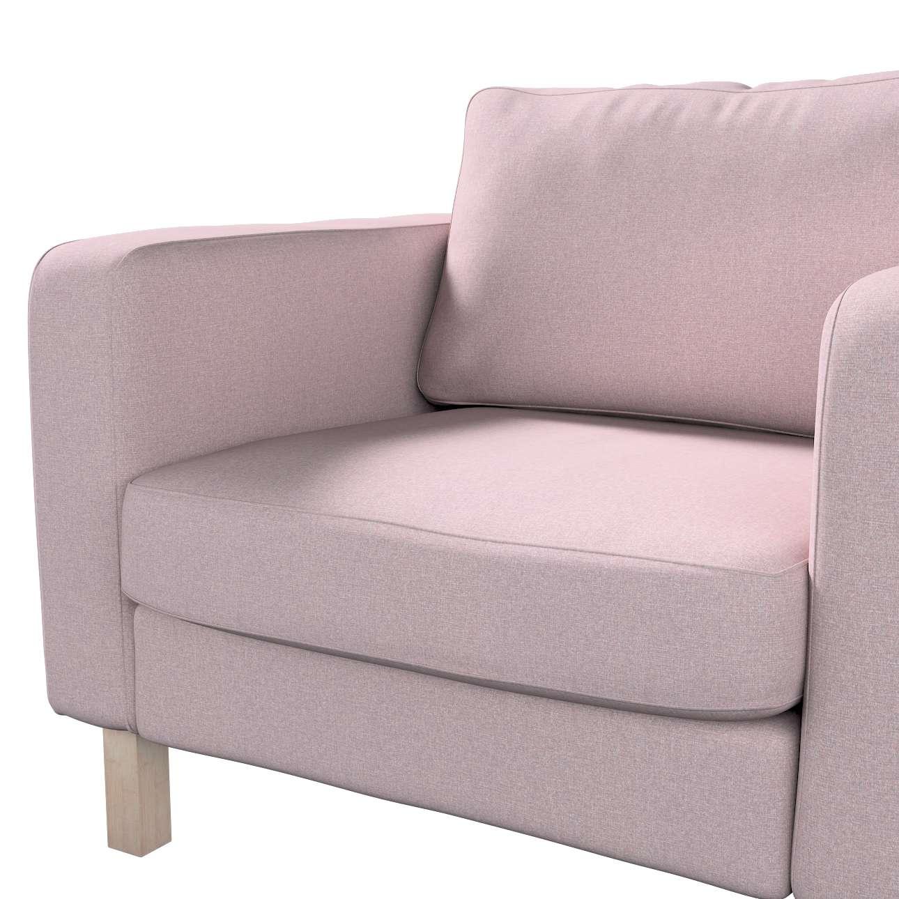 Pokrowiec na fotel Karlstad, krótki w kolekcji Amsterdam, tkanina: 704-51