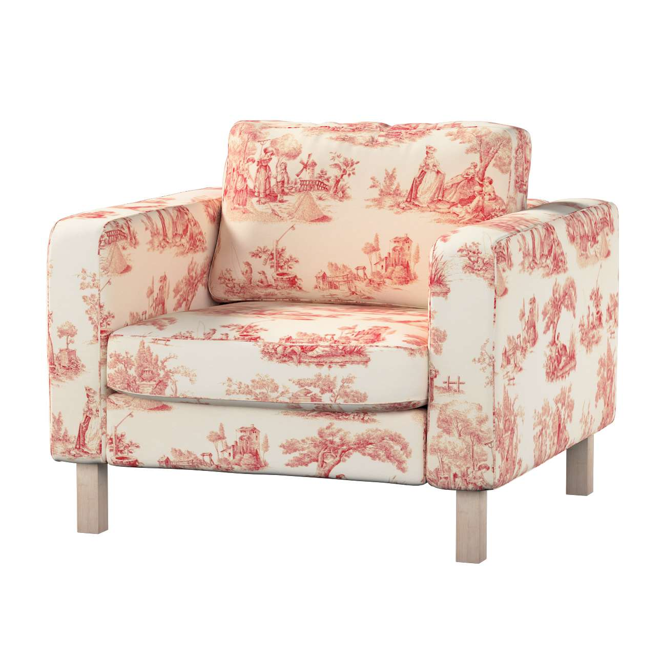 Karlstad armchair cover Karlstad armchair cover in collection Avinon, fabric: 132-15