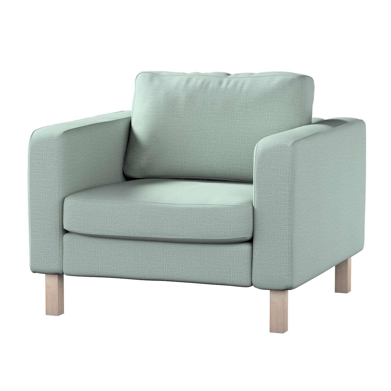 Pokrowiec na fotel Karlstad, krótki w kolekcji Living, tkanina: 160-86