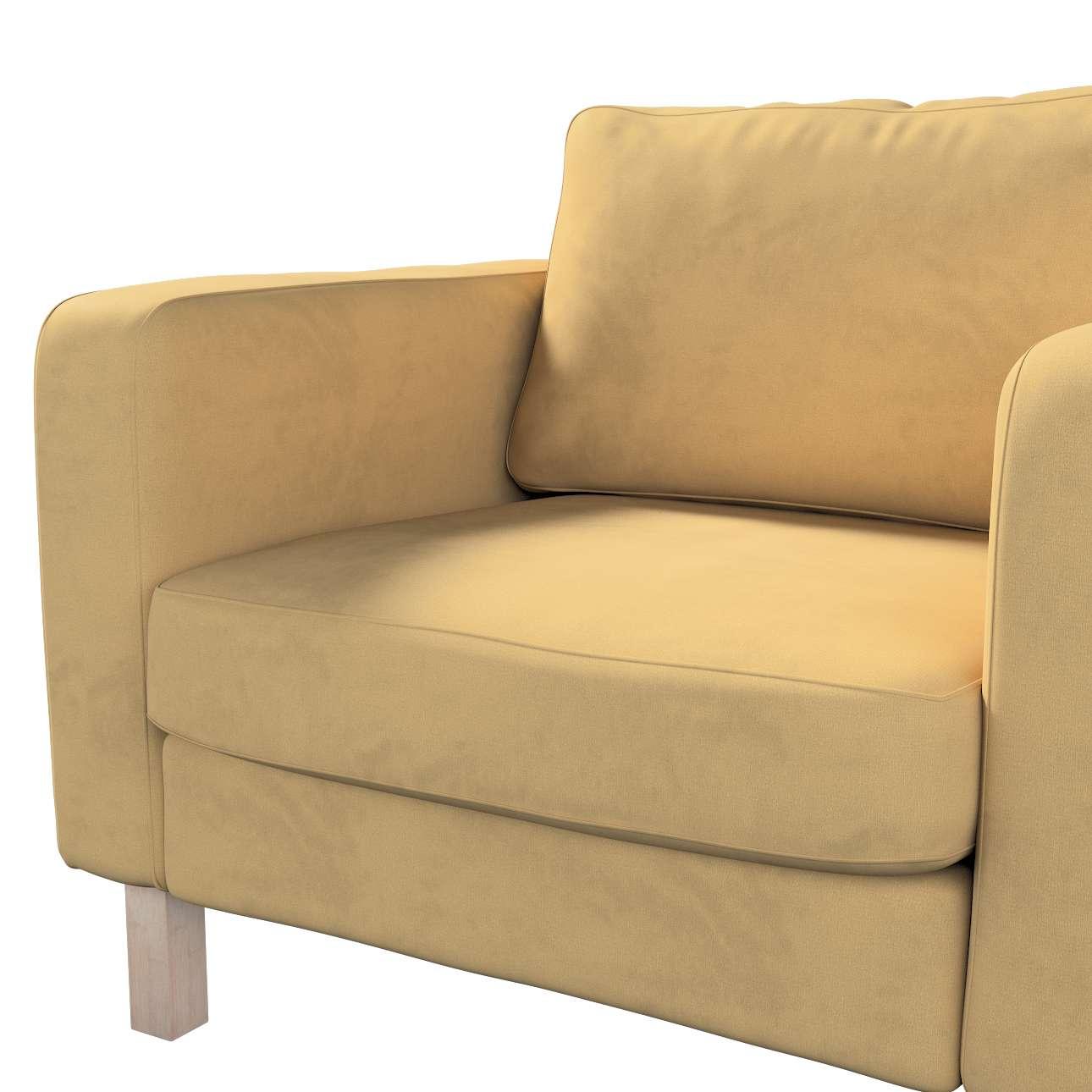 Pokrowiec na fotel Karlstad, krótki w kolekcji Living, tkanina: 160-93