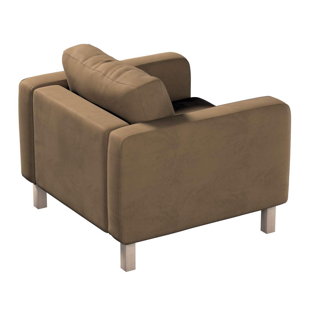 Pokrowiec na fotel Karlstad, krótki w kolekcji Living II, tkanina: 160-94