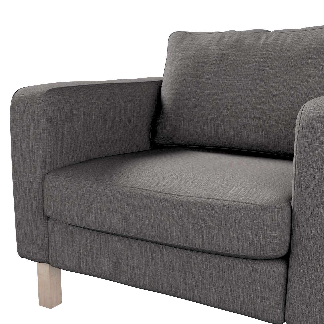 Pokrowiec na fotel Karlstad, krótki w kolekcji Living, tkanina: 161-16