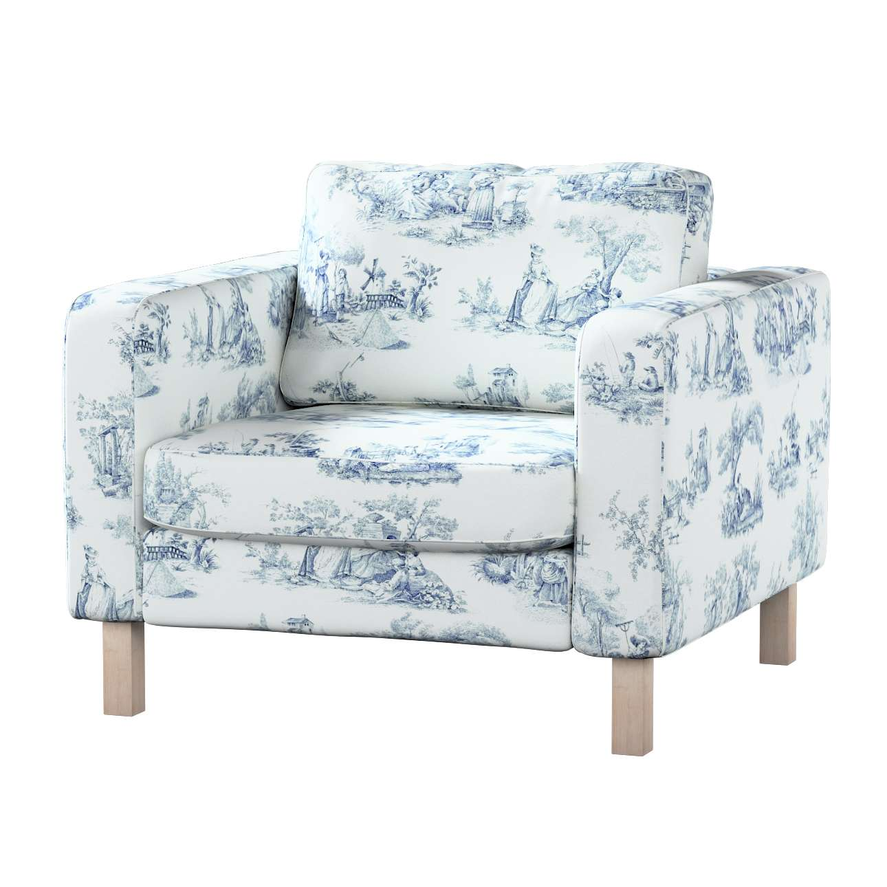 Karlstad armchair cover Karlstad armchair cover in collection Avinon, fabric: 132-66