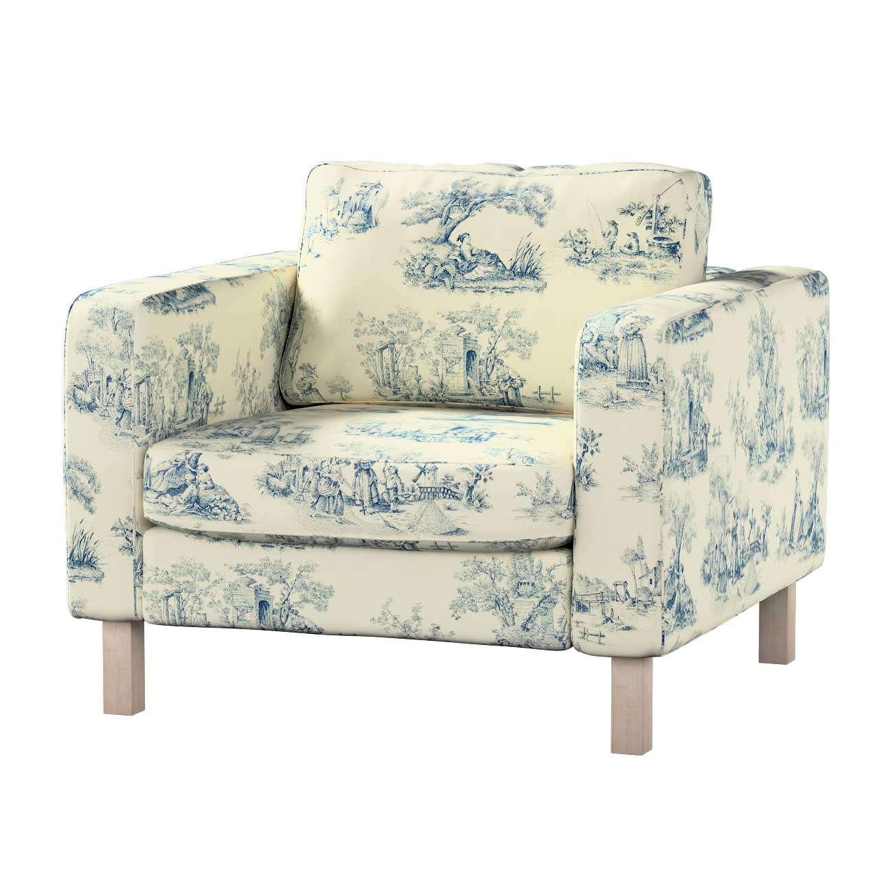 Karlstad fotelio užvalkalas Karlstad fotelio užvalkalas kolekcijoje Avinon, audinys: 132-66