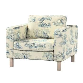 Pokrowiec na fotel Karlstad, krótki Fotel Karlstad w kolekcji Avinon, tkanina: 132-66