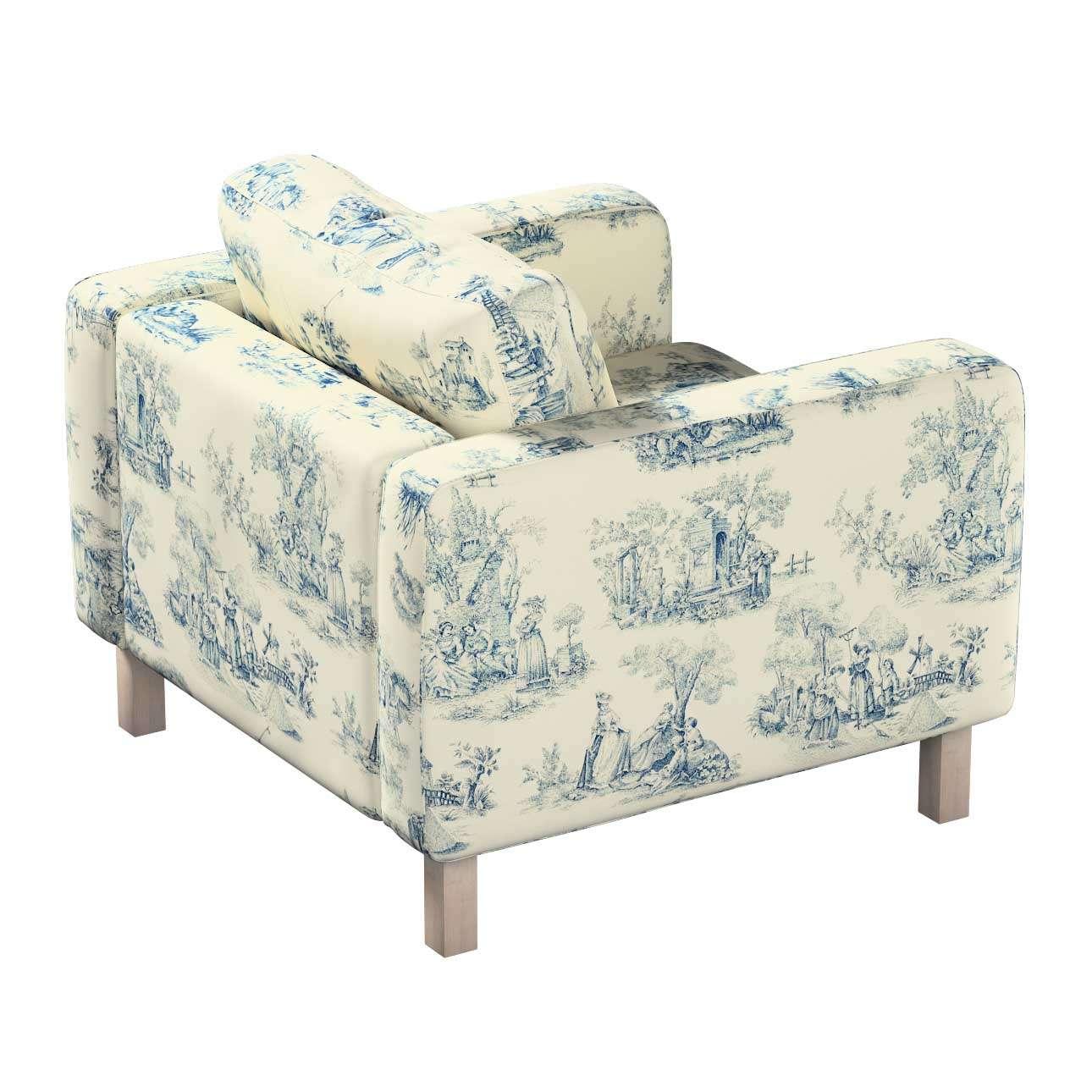 Pokrowiec na fotel Karlstad, krótki w kolekcji Avinon, tkanina: 132-66
