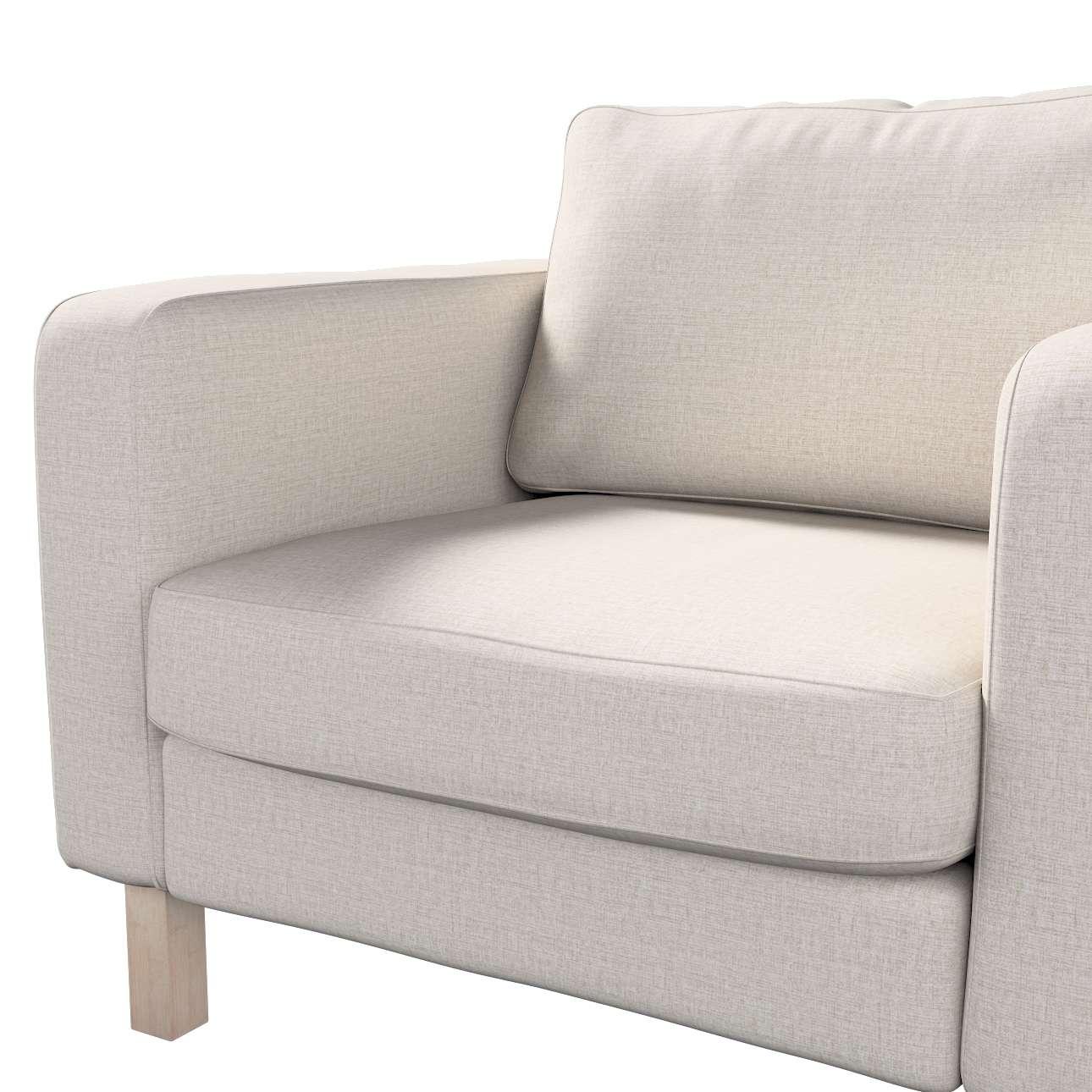 Pokrowiec na fotel Karlstad, krótki w kolekcji Living, tkanina: 161-00