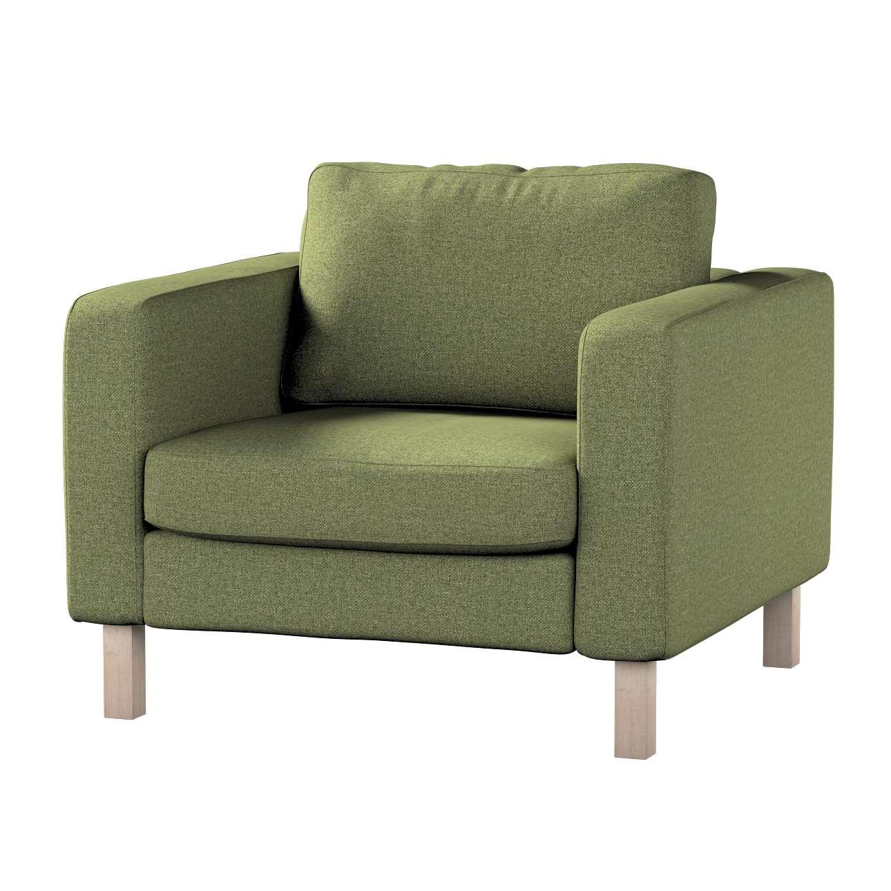 Pokrowiec na fotel Karlstad, krótki w kolekcji Madrid, tkanina: 161-22