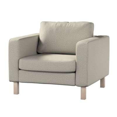 Pokrowiec na fotel Karlstad, krótki 161-23 szaro-beżowy melanż Kolekcja Madrid
