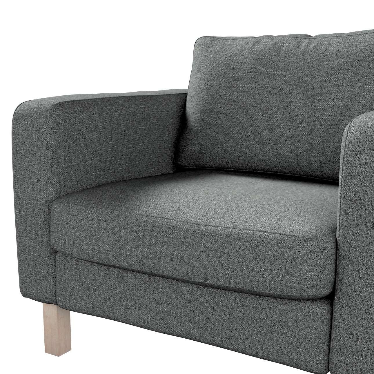 Pokrowiec na fotel Karlstad, krótki w kolekcji Madrid, tkanina: 161-24
