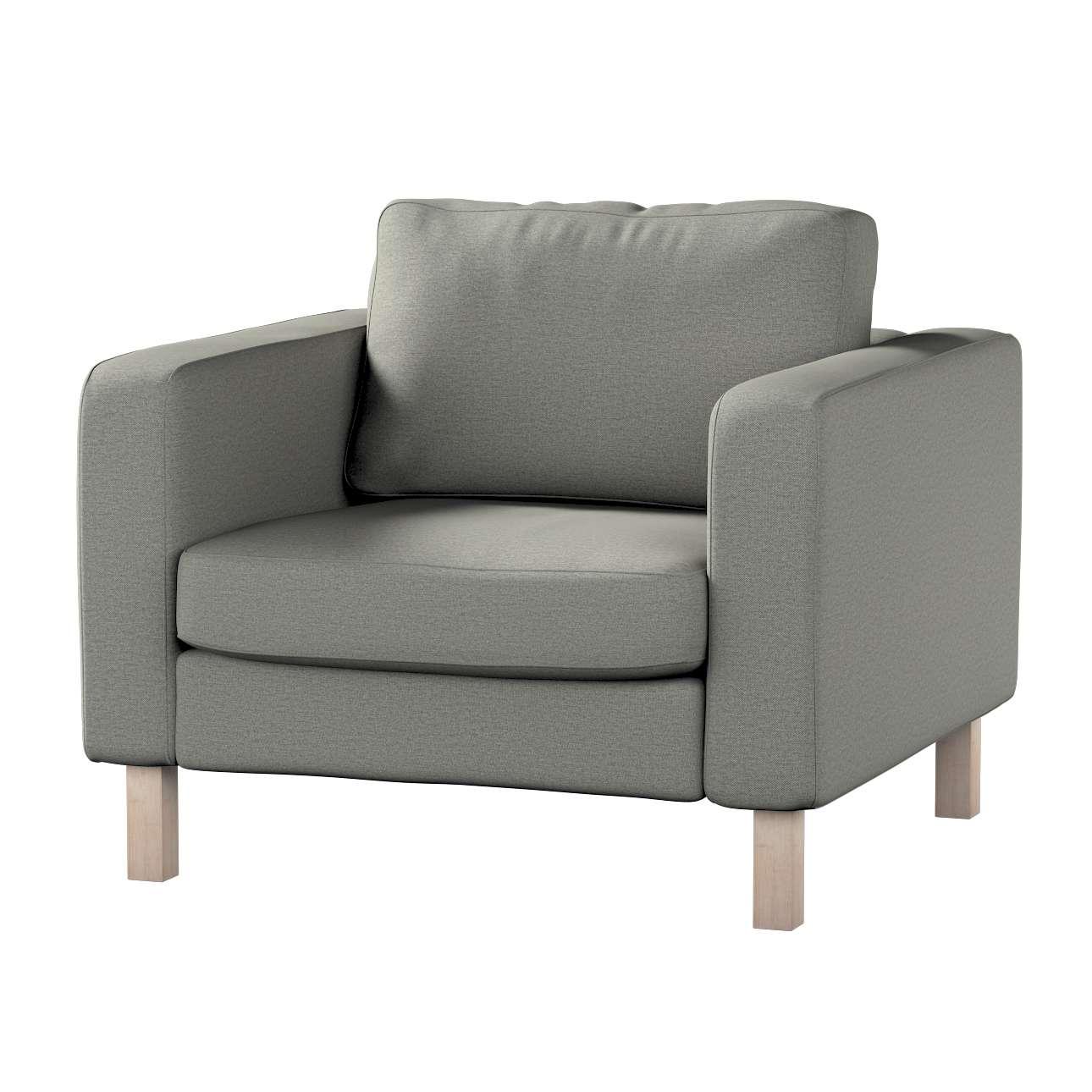 Pokrowiec na fotel Karlstad, krótki w kolekcji Etna, tkanina: 161-25