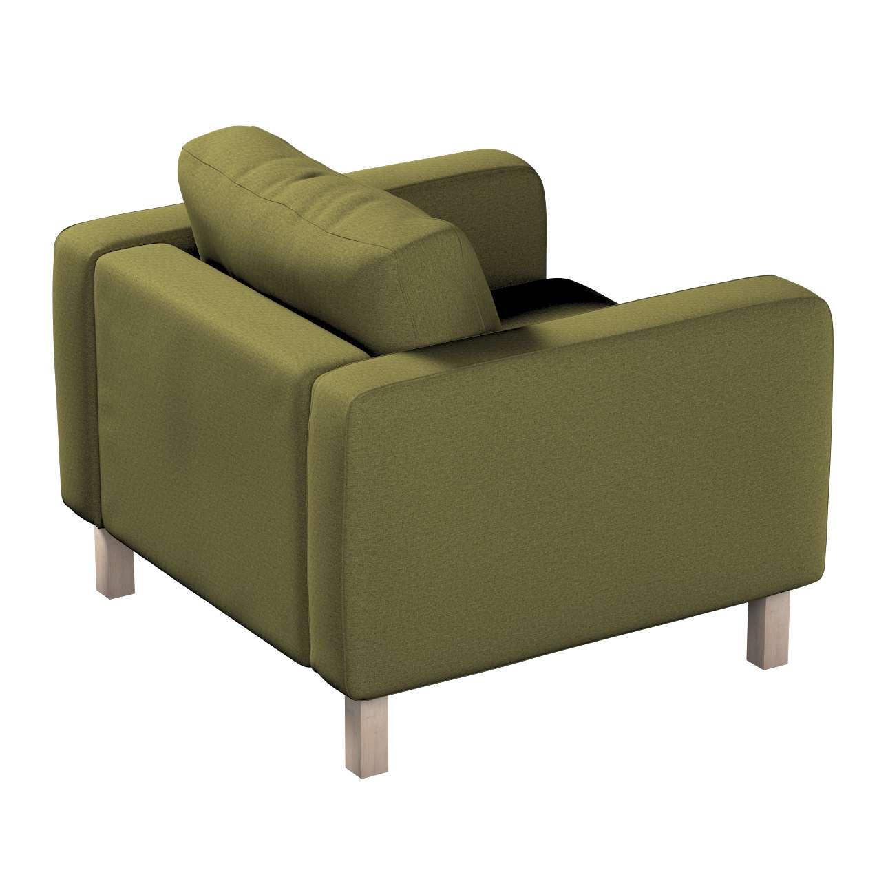 Pokrowiec na fotel Karlstad, krótki w kolekcji Etna, tkanina: 161-26